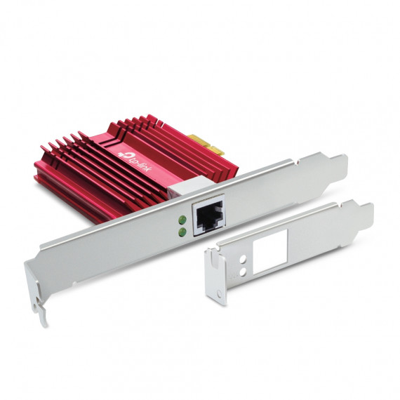 TPLINK 10 Gigabit PCI Network Adapter  10 Gigabit PCI Express Network Adapter PCIe 3.0x4 Include CAT6A Ethernet Cable