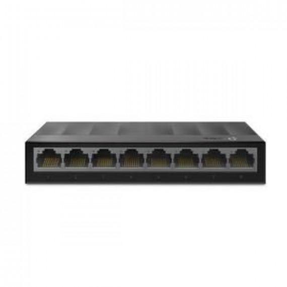 TPLINK LiteWave 8-Port Gigabit Desktop  LiteWave 8-Port Gigabit Desktop Switch 8 Gigabit RJ45 Ports Desktop Plastic Case