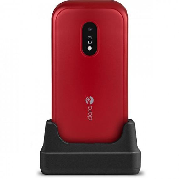 Doro Téléphone portable  6040 Rouge / Blanc
