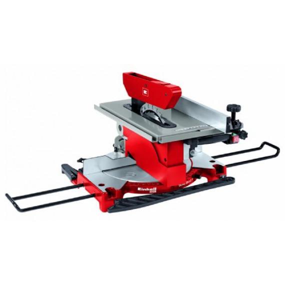 Einhell Scie à onglet avec table TC-MS 2112 T (1200 W, Largeur de coupe maximale : 120 mm, Table pivotante, Tête de scie inclinable)