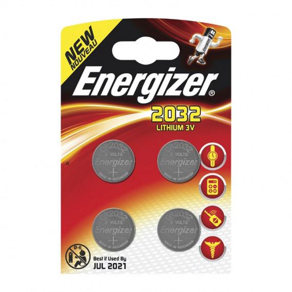 Energizer 2032 Lithium 3V (par 4)