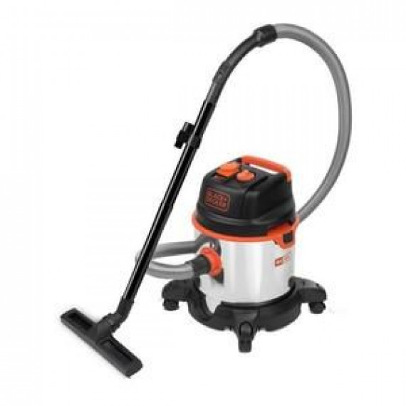 BLACK & DECKER BLACK & DECKER Aspirateur eau et poussière 1400 W cuve 20 L en inox avec prise pour outil électroportatif