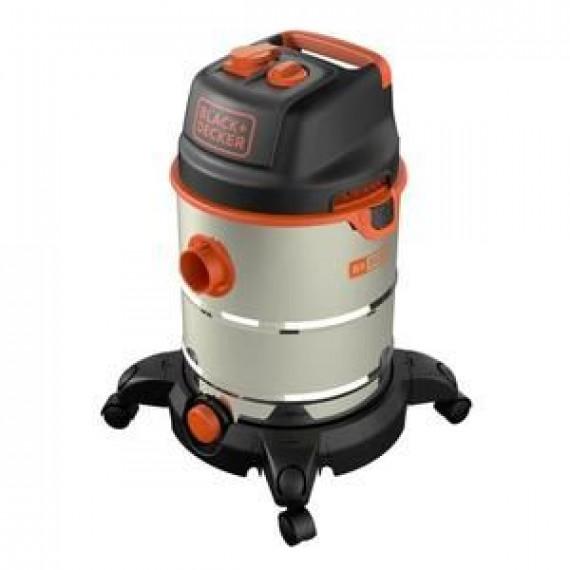BLACK & DECKER BLACK & DECKER Aspirateur eau et poussière 1600 W cuve  30 L en inox avec prise pour outil électroportatif
