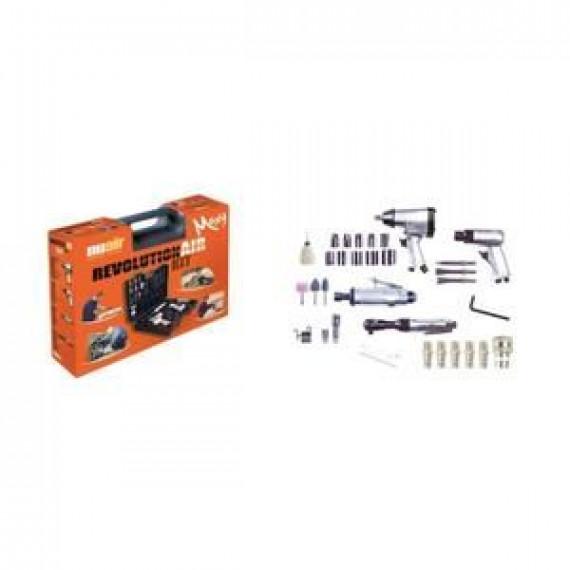 1MORE REVOLUTION'AIR Kit 4 outils et 30 accessoires pneumatiques pour compresseur d'air