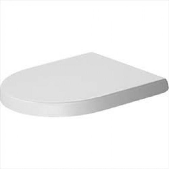 Duravit Siège WC sans frein  0069810000, Charnières en acier inoxydable, Blanc
