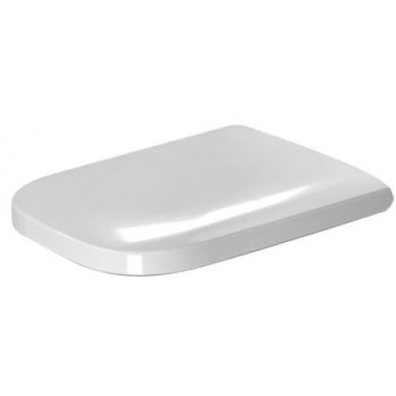 Duravit 0064590000Happy d.2Abattant de WC avec charnières en acier inoxydable Blanc Fermeture douce