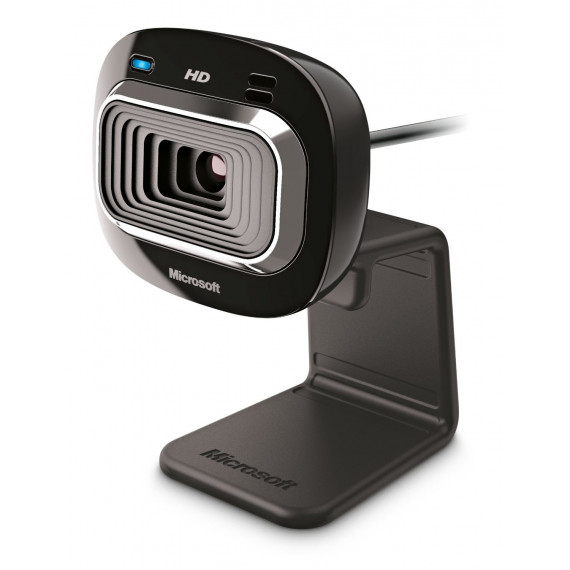 webcam Microsoft LifeCam HD-3000 noir, certifié pour Windows 8 Vidéo: 1280 pixels Photo: 720 pixels 1x USB