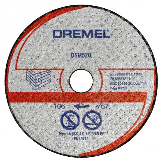 Dremel ot de 2 disques de découpe pour maçonnerie pour DSM20 (DSM520)