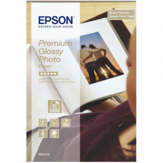 EPSON Papier glacé qualité photo Premium 10 x 15 cm - C13S042153 - Papier glacé qualité photo Premium 10x15 cm 255 g/m² (40 feuilles)