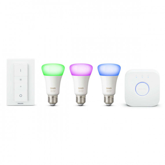 PHILIPS Hue White & Color Ambiance Kit de démarrage E27