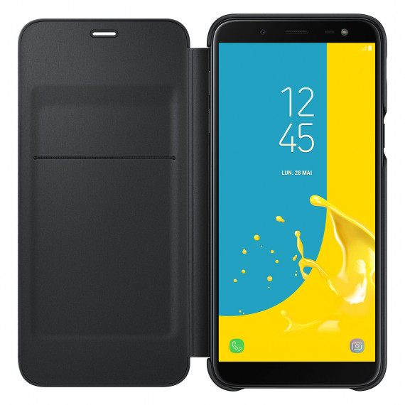 SAMSUNG Flip Wallet Noir Galaxy J6 2018