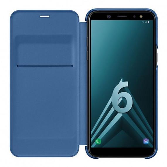 SAMSUNG Flip Wallet Bleu Galaxy A6 2018