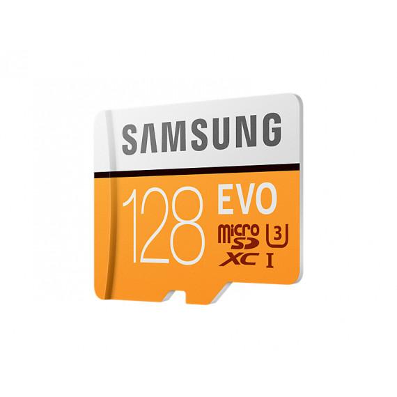 SAMSUNG Carte mémoire MicroSD Evo 128G avec adaptateur SD