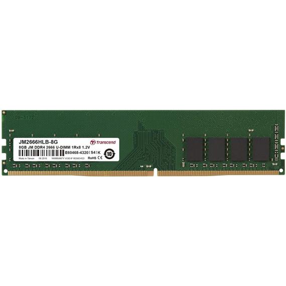TRANSCEND 8GB JM DDR4 2666 U-DIMM 1Rx8  8GB JM DDR4 2666 U-DIMM 1Rx8 1Gx8 CL19 1.2V