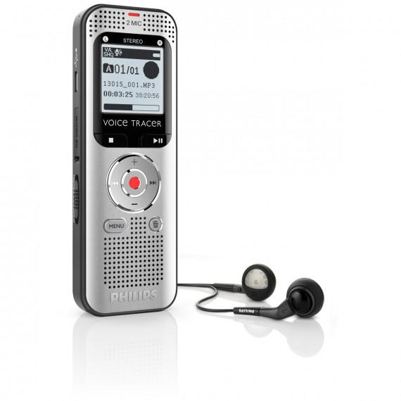 PHILIPS Philips DVT2000 - Dictaphone numérique 4 Go avec enregistrement stéréo à 2 micros et slot MicroSD