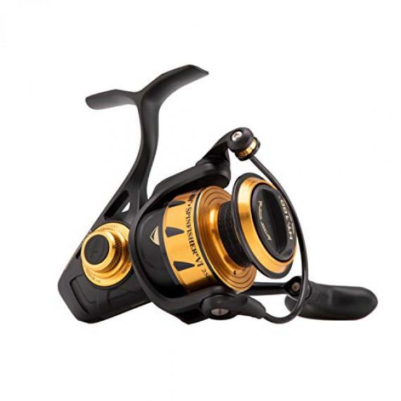 Penn PENN Spinfisher VI moulinet spinning solide résistant à l'eau salée pour la pêche en mer en bateau, pêche au leurre, pêche en kayak, excellent rapport qualité prix