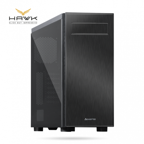 Chieftec Hawk Gaming ATX tower  Hawk Gaming ATX tower side tempered glass