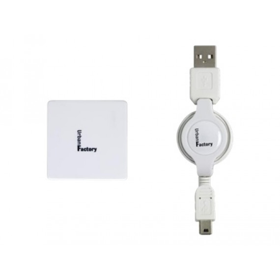 URBAN FACTORY Crazy Hub USB 2.0 Blanc