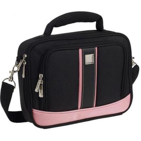 URBAN FACTORY Sacoche compacte pour Netbook 10,2'' – Black/Pink