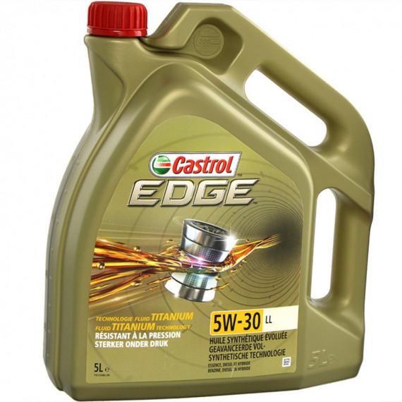 Castrol Castrol EDGE Titanium LL 5W-30, 5Litres, HUILE MOTEUR, VÉHICULE