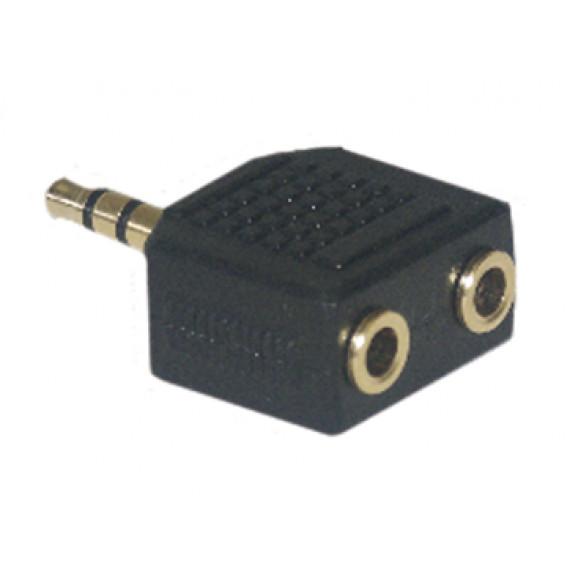 MCL Adaptateur JACK 3.5mm mâle / 2 x JACK 3.5mm femelle haute qualité