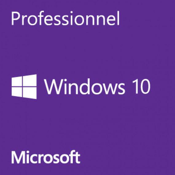 MICROSOFT Windows 10 Pro - Licence - 1 licence - OEM - 64-bit - français