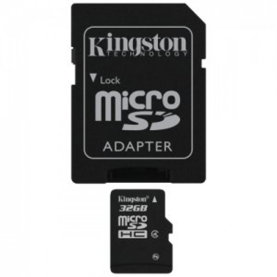 KINGSTON Carte mémoire microSDHC 32 Go avec adaptateur SD (garantie 10 ans par Kingston)