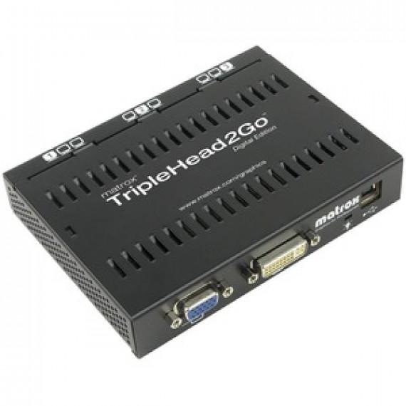 Module d'extension graphique externe (1 entrée DVI ou VGA vers 3 sorties DVI) MATROX TRIPLEHEAD2GO DIGITAL EDITION