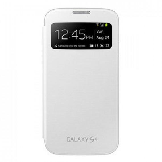 Etui Folio Samsung EF-CI950W - Etui S-View Blanc pour Galaxy S4 GT-i9500/9505