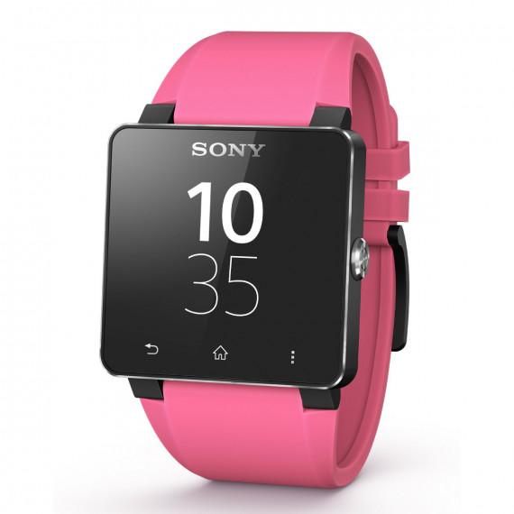 Sony Bracelet pour SmartWatch 2 Silicone Rose Bracelet en silicone pour montre Android Sony SmartWatch 2