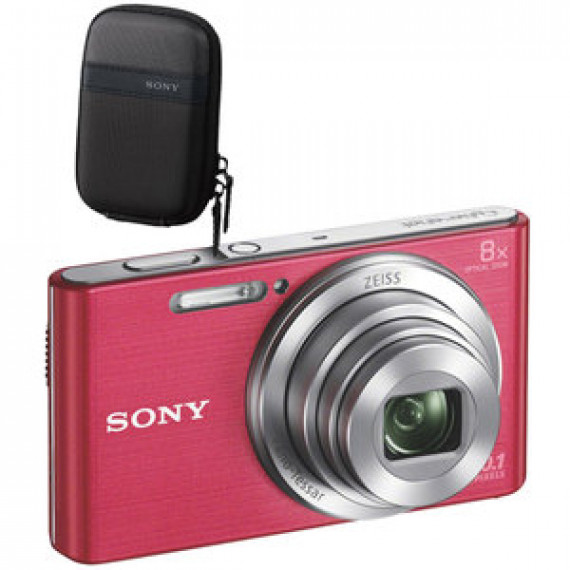 Appareil photo Sony DSC-W830 Pack Rose 20.1 MP - Zoom optique 8x - HD 720p - Écran LCD 6.2 cm