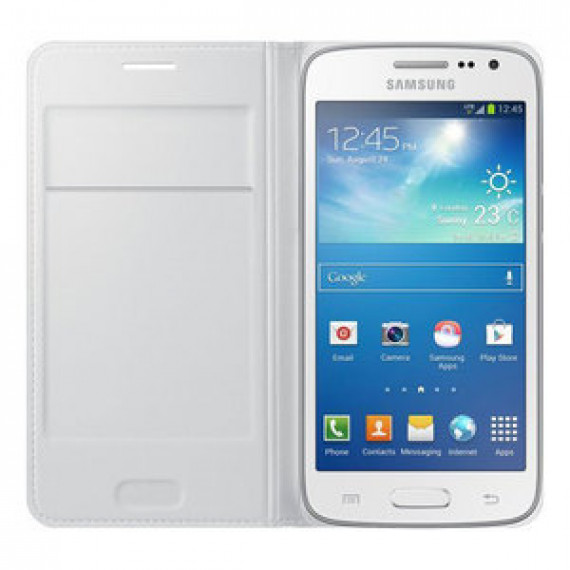 Etui portefeuille Samsung Flip Wallet Blanc Samsung Galaxy Core 4G - pour Samsung Galaxy Core 4G