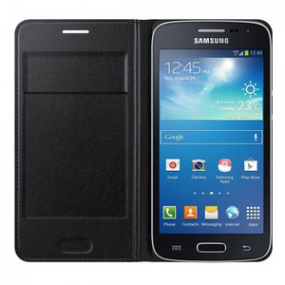Etui portefeuille Samsung Flip Wallet Noir Samsung Galaxy Core 4G - pour Samsung Galaxy Core 4G