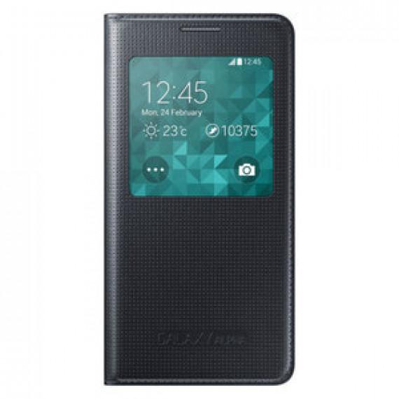 Etui Folio Samsung S-View Noir pour Samsung Galaxy Alpha