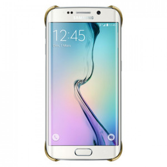Coque transparente Samsung Clear Cover Or Samsung Galaxy S6 Edge - pour Samsung Galaxy S6 Edge