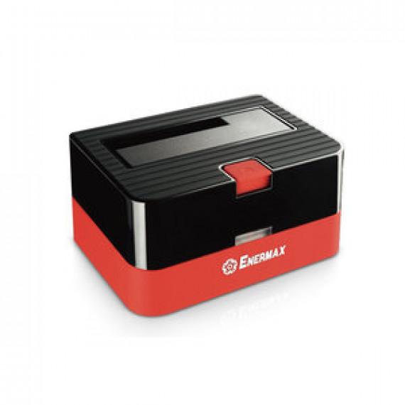 """Station d'accueil pour disque dur 2""""1/2 et 3""""1/2 Enermax EB310SC - avec port USB 3.0 et ports de recharge pour smartphones"""