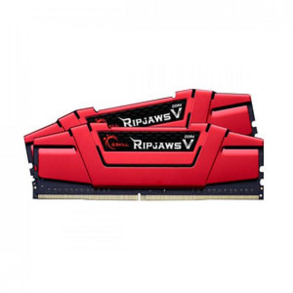 Memoire RAM G.Skill RipJaws 5 Series Rouge 8 Go (2x 4 Go) DDR4 2400 MHz CL17 - Kit Dual Channel 2 barrettes de RAM DDR4 PC4-19200 - F4-2400C17D-8GVR