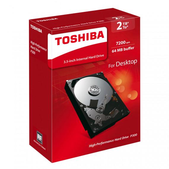 "Disque dur 3.5"" Toshiba P300 HDWD120EZSTA 2To 7200 RPM 64 Mo Serial ATA III 6 Gb/s"