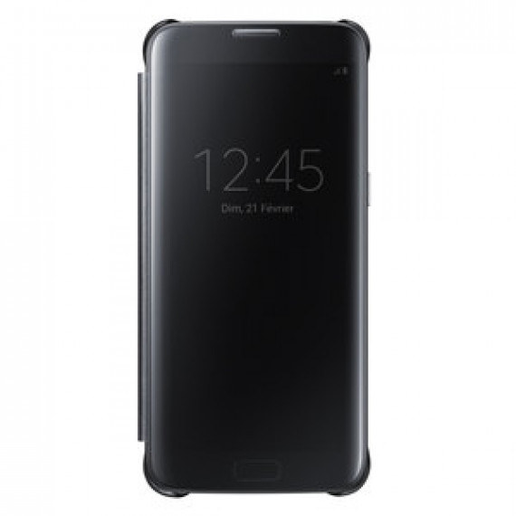 SAMSUNG Clear View Cover Noir Samsung Galaxy S7 Edge