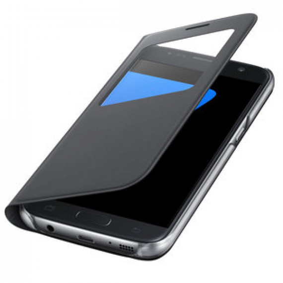 Etui folio Samsung S-View Noir Samsung Galaxy S7 - pour Samsung Galaxy S7