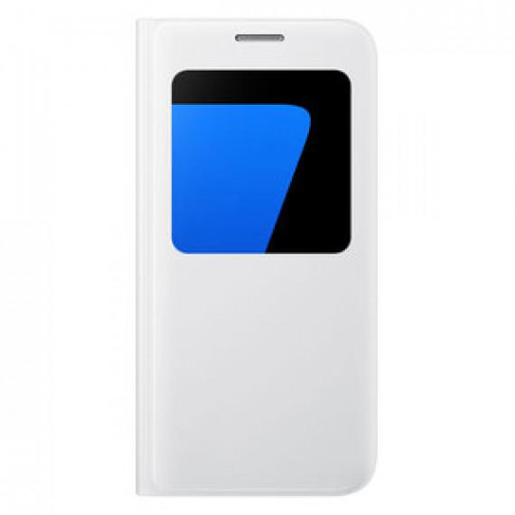 Etui folio Samsung S-View Blanc Samsung Galaxy S7 - pour Samsung Galaxy S7