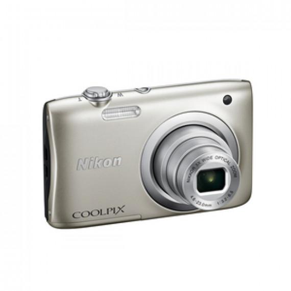 Appareil photo Nikon Coolpix A100 20.1 MP - Zoom optique 5x - Vidéo HD Argent