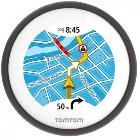 """GPS pour scooter TOMTOM VIO - Ecran tactile circulaire 2.4"""" - Etanche (IPX7) - Europe - Trafic et radars à vie"""