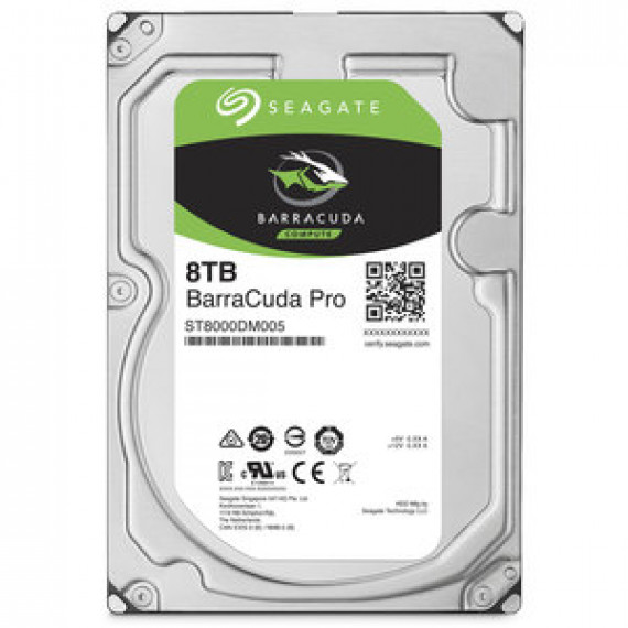 "Disque dur Seagate BarraCuda Pro 8 To (ST8000DM005) - 3.5"" 8 To 7200 RPM 256 Mo Serial ATA 6 Gb/s"