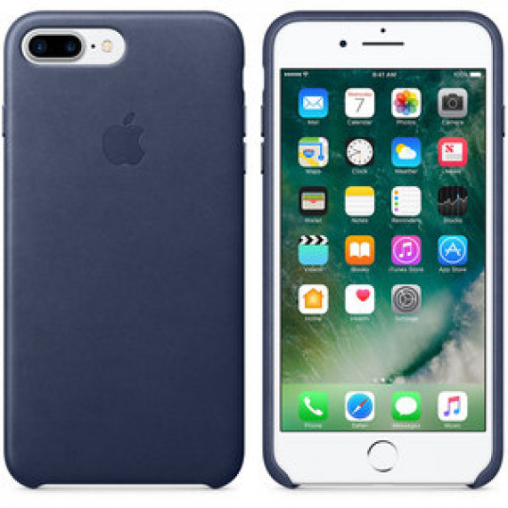 Coque en cuir Apple Bleu nuit Apple iPhone 7 Plus - pour Apple iPhone 7 Plus