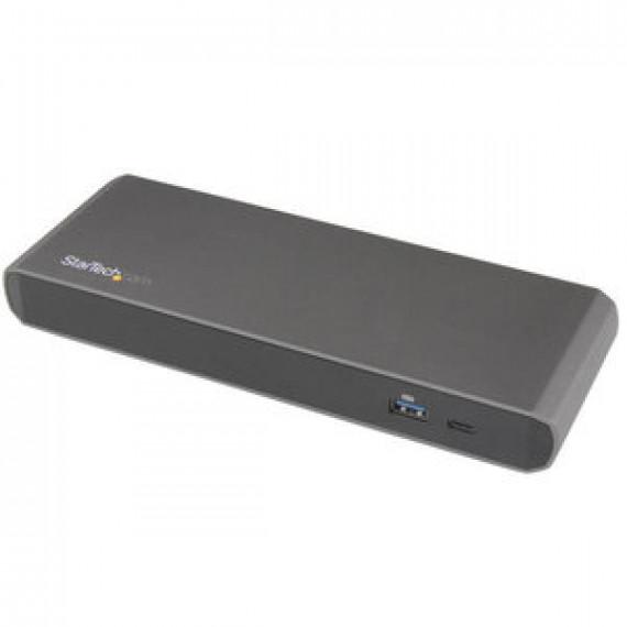 Station d'accueil StarTech.com TB3DKDPMAWUE - Thunderbolt 3 (DisplayPort, USB, RJ45, Thunderbolt 3)