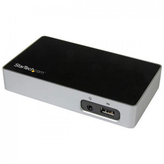 Station d'accueil STARTECH.COM USB3VDOCK4DP USB 3.0 (DisplayPort 4K, GbE, USB 3.0, Mini-jack 3.5 mm)