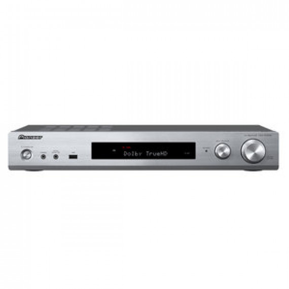 Ampli-tuner Pioneer VSX-S520D Argent - A/V 5.1 slim Classe D 80W, Pass-Through 4K, MCACC, DAB, FireConnect, 3D Ready, DLNA, HDMI, HDCP 2.2, Google Cast, Bluetooth, Wi-Fi Dual Band, AirPlay, Hi-Res Audio, Dolby True HD et DTS-HD