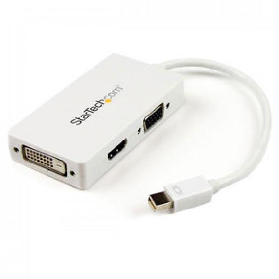 Adaptateur StarTech.com MDP2VGDVHD Blanc - Mini-DisplayPort vers DVI + VGA + HDMI