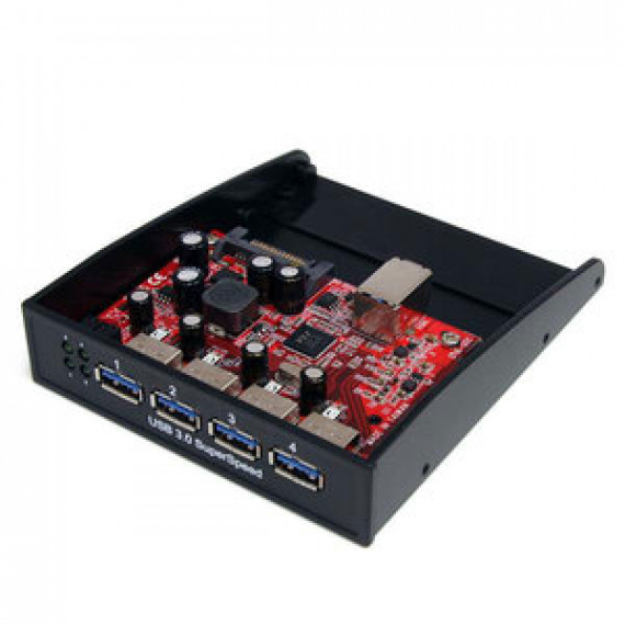 """Concentrateur de panneau avant 3.5"""" avec 4 ports USB 3.0 StarTech.com 35BAYUSB3S4"""